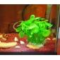 """5 """"enfeite decoração de plástico verde planta para aquário"""