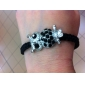 Owl Pattern Diamond-studded Weave Bracelet