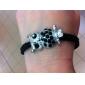 Motif hibou de diamant clouté Bracelet Tissage