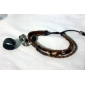 Z&X®  Leather Bracelet Multilayer Black Guatambu Bracelet