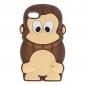 iPod touchの4のための3Dデザインかわいい猿のパターンソフトケース(アソートカラー)