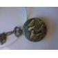 cavalo dos homens liga relógio de bolso de quartzo analógico (bronze)
