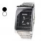 Aço homens analógico relógio de pulso de quartzo com calendário (cores sortidas)