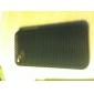 ultra fino de borracha matte malha de cobertura caso difícil para o iphone 4 e 4S com tela de proteção (preto)