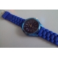 Women's Chrysanthemum Style Blue Silicone Band Quartz Wrist Watch Cool Watches Unique Watches