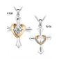 Boutique echte Vergoldung Liebe Stil Halskette