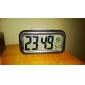 azul backlight LCD Digital calendário despertador (3xAAA)