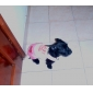 adorável cão vestido estilo jeans para cães (xs-xl, rosa)