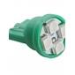 T10 3528 SMD 4-LED Green Light Bulb for Car (DC 12V, Set of 4 pcs)