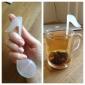 fonetisk symbol formede teblade si filter (tilfældig farve)