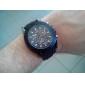 Männer neue stilvolle schwarze Silikon-Sport-Armbanduhr sw4