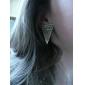 빈티지 패턴 삼각형 귀걸이