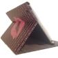 sexy læbe mønster pu læderetui med stander til iPad 2/3/4 /