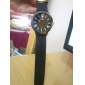 Silicone Band Classic Big Dial Fashion Quartz Women Men Casual Watch - Black
