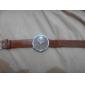 Women's Coffee Dial PU Band Quartz Wrist Watch