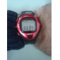 Masculino Relógio de Pulso Digital LCD Pulsômetro Calendário Cronógrafo alarme Borracha Banda Preta Cinzento Vermelho Azul