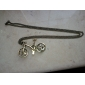 Modische Halskette im Retro Fahrrad Design