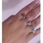 Z&X®  Retro Lingking Heart Double Finger Ring