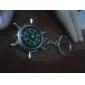 métal argenté porte-clés boussole