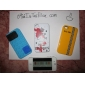 Silicon Block Case with Cable Wrap for iPhone 4