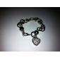 Fashion Rhinestone Heart Style Pendant Bracelet