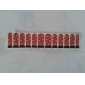 12pcs Nail Foil Art Armour Wraps Patch Stickers-Red Series