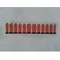 12 Unidades de Estampas de Arte de Uña de La Serie Roja