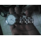 Женские Модные часы Кварцевый Plastic Группа Серебристый металл бренд-