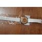 Женские Модные часы Японский кварц Имитация Алмазный Кварцевый силиконовый Группа Блестящие Heart Shape Белый