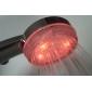 3-tommers 6-LED 7-farget fargeskiftende dusjhode (plastikk, kromfinish)