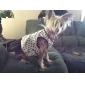Bowknot adornados comer patrón de malla vestidos de empalme para los perros (XS-L)