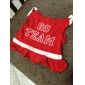 Go Team Cheer Leader Style Cotton Skirt for Dogs (Red, Multiple Sizes Available)