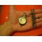 Men's Alloy Mechanical Quartz Hollow Engraving Pocket Watch (Bronze)