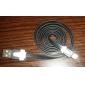 usb hane till mikro-USB hane datum kabel för Samsung mobiltelefoner (blandade färger, 100cm)