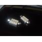 42mm 8x5050 smd hvitt lys LED-pære for bil CANbus (DC 12V, 2-pack)