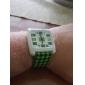 שעון יוניסקס הירוק סריג סגנון pu להקת קוורץ אנלוגי שורש כף יד