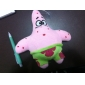 Plush Pink Cute Cartoon Figure with Sucker