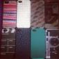 pvc colorata custodia rigida baffi per 5/5s iphone