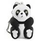 Panda Keychain with LED Flashlight and Sound Effects (Black)
