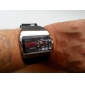 Menns Multi-funksjonell stil Rubber Multi-bevegelse Analog-Digital Wrist Watch (Black)