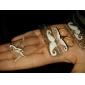 Overskæg Halskæde Øreringe Ring og armbånd smykker Set