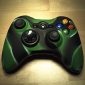 Protective Dual-Color Silicone Case for Xbox 360 Controller (Green and Black)