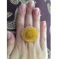 Ring Party Daily Jewelry Alloy Women Statement Rings 1pc,Adjustable Gold White