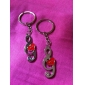 Musical Note Shaped Metal Keychain, Pair