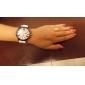 Silicone Band Classic Big Dial Fashion Quartz Women Men Casual Watch - White