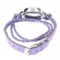 Women's Fashionable Style PU Analog Quartz Bracelet Watch (Assorted Colors)