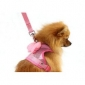 Dog Harnesses Pink Textile