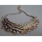 Retro Metal Feather Angel Necklace