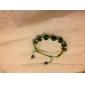 granos verdes cuerda pulsera tejida