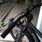 Esponja Anti-Slip + Resin Ciclismo apertos de bicicleta Bar End Guidão (Preto) MN162421